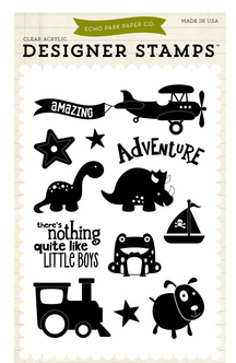 Little Man - Boy Adventure 4x6 Stamp