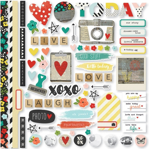Life in Color Fundamentals Cardstock Stickers