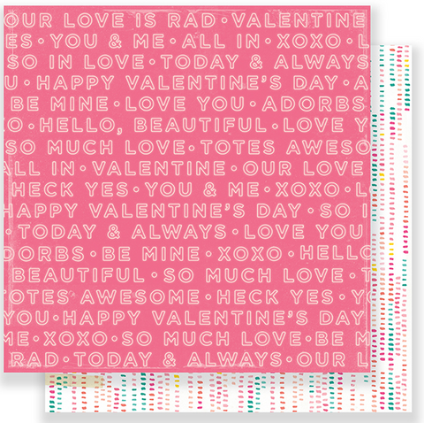 PAPER - PATTERNED - CP - HELLO LOVE - TWO HEARTS