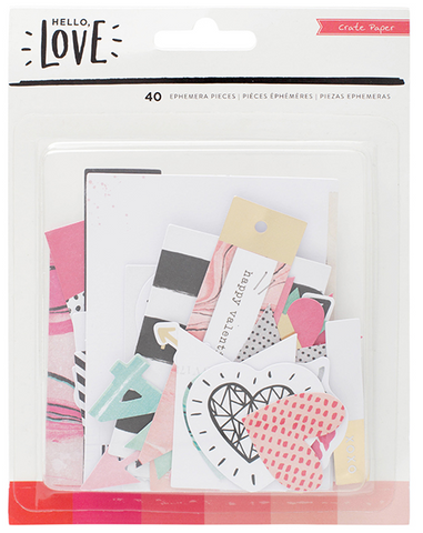 EMBELLISHMENTS - CP - HELLO LOVE - GOLD FOIL - EPHEMERA