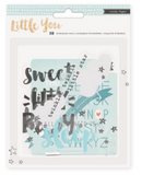 Embellishments - CP - Little You - Acrylic - Ephemera - Boy (38 Piece)