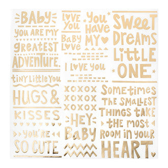 Specialty Paper - CP - Little You - Vellum - Gold Foil - Sweet Dreams