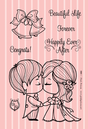 Caketopper Kiss Stamp Set
