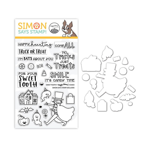 Waffleflower Clear Stamp and Die Set Sweet Tooth