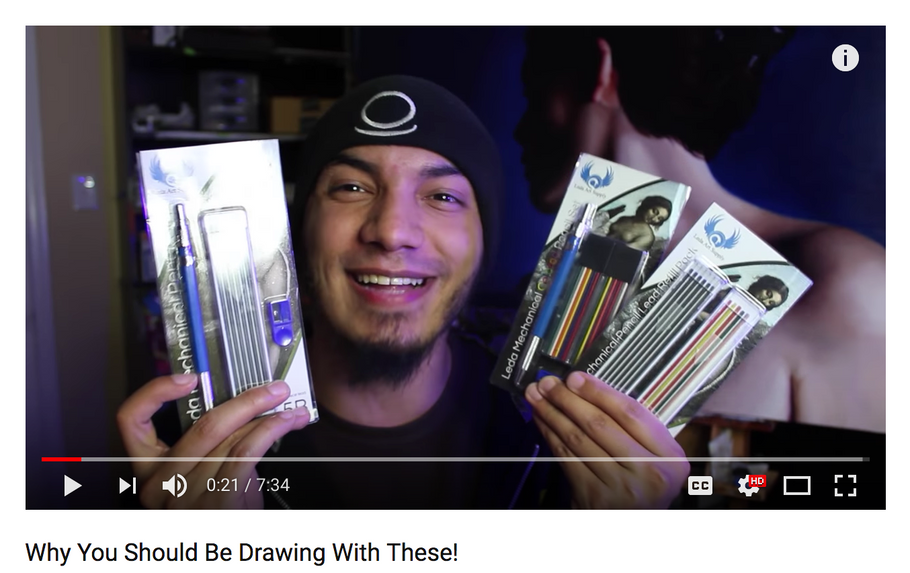 New York Art Vlogger John Grim at The Artist Block is NUTS about Leda Colored Pencil Set!