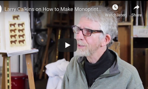 Video Art Lesson: Larry Calkins on How to Make Monoprint Sketchbook Art