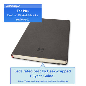 Leda Art Supply Large Sketchbook 3 Pack Bundle