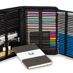 72 Piece Dream Art Kit for Colored Pencil Drawing Includes 60 Professional Sketch Pencils