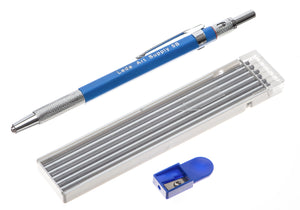 Mechanical Pencil Set with 12-piece 5B lead and sharpener for drawing