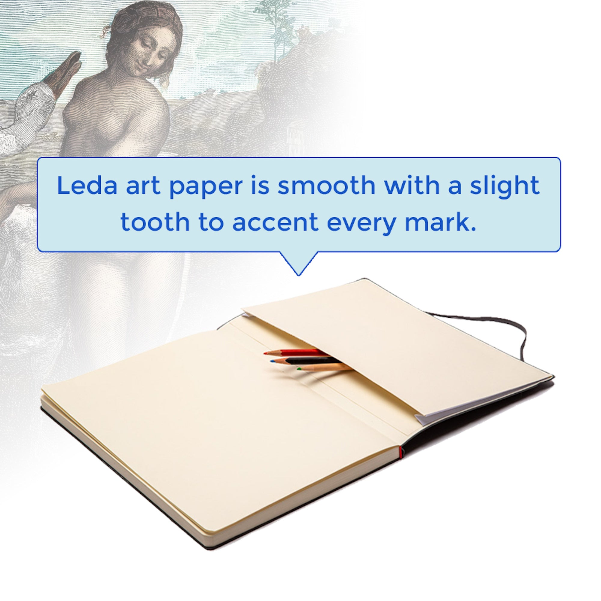 Leda Sketchbook Multi-pack -- 3 Sizes - Small, Medium, & Large