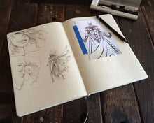Sketchbook for Pencil, Ink, Pen, Pastel, and Charcoal Drawing - Leda Art Supply Medium Art Journal