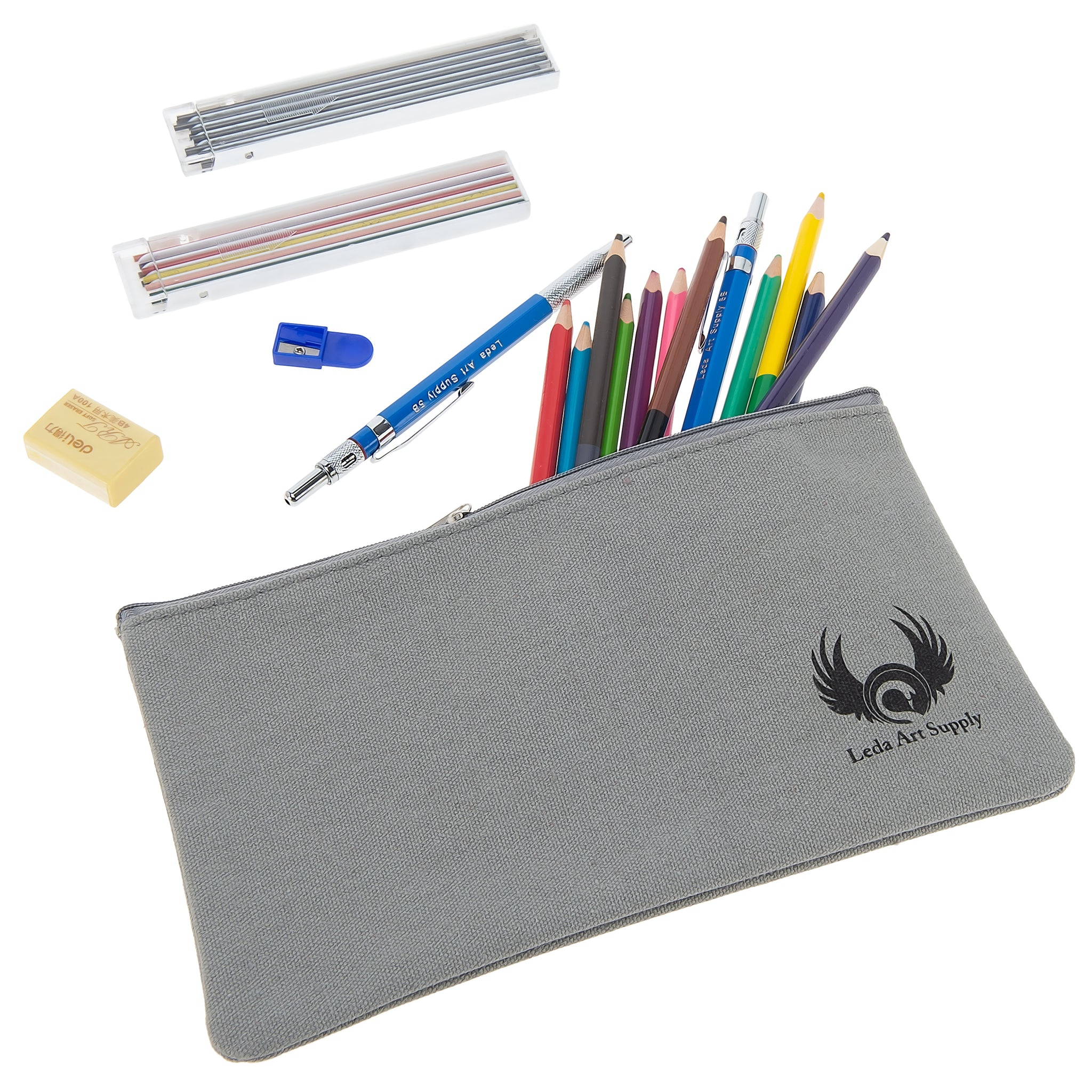 Canvas Pencil Case Large Enough for a Boat Load of Writing Utensils