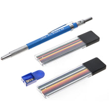 Mechanical Color Pencil Set For Artists With 21 Colored Leads