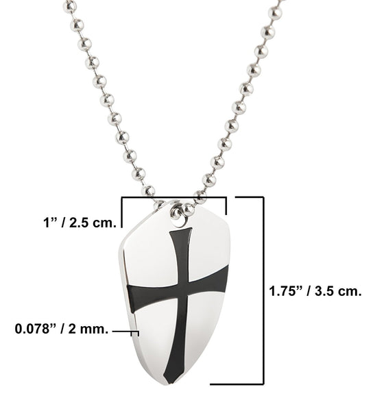 Pendant shield of faith be strong and courageous joshua 19b pendant shield of faith be strong and courageous joshua 19b stainless steel aloadofball Images