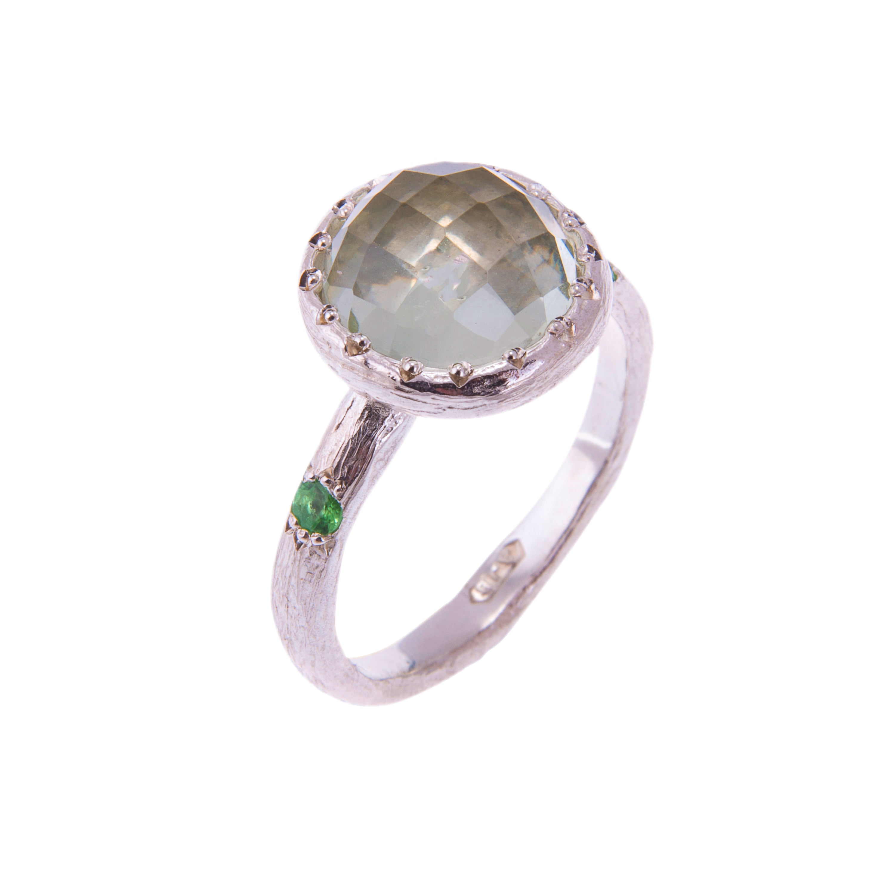 product gemstone green tacori picture rings silver of sterling