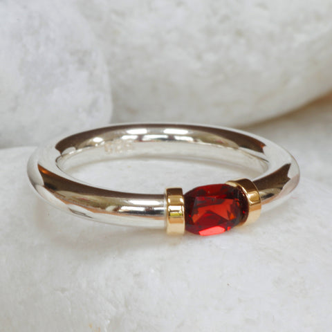 African Garnet Tension Ring
