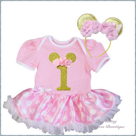 40d544463 Minnie Mouse 1st Birthday Rompers - Multiple Styles Available ...