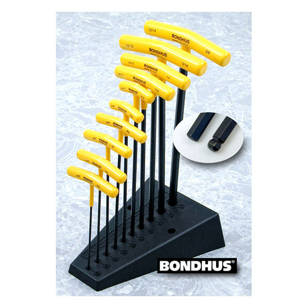 BONDHUS, T-HANDLE ALLEN WRENCH SET. Tommer.