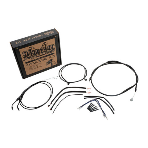 BURLY APEHANGER CABLE/LINE KIT. 97-03 XL.