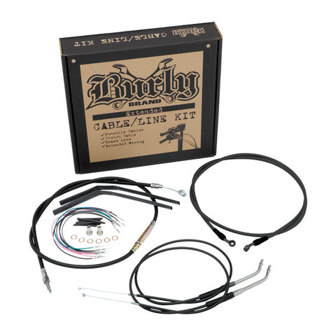 BURLY APEHANGER CABLE/LINE KIT. 07-10 FLST.
