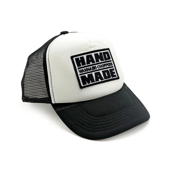 WANNABE CHOPPERS TRUCKER CAP WHITE/BLACK