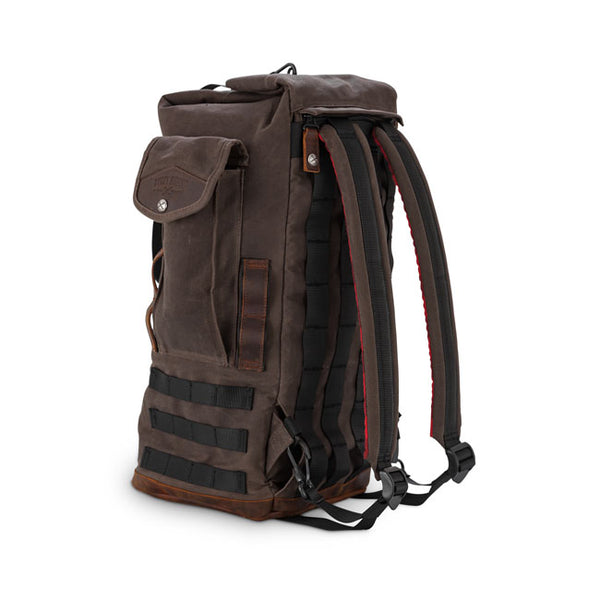 BURLY VOYAGER SISSY BAR BACKPACK DARK OAK