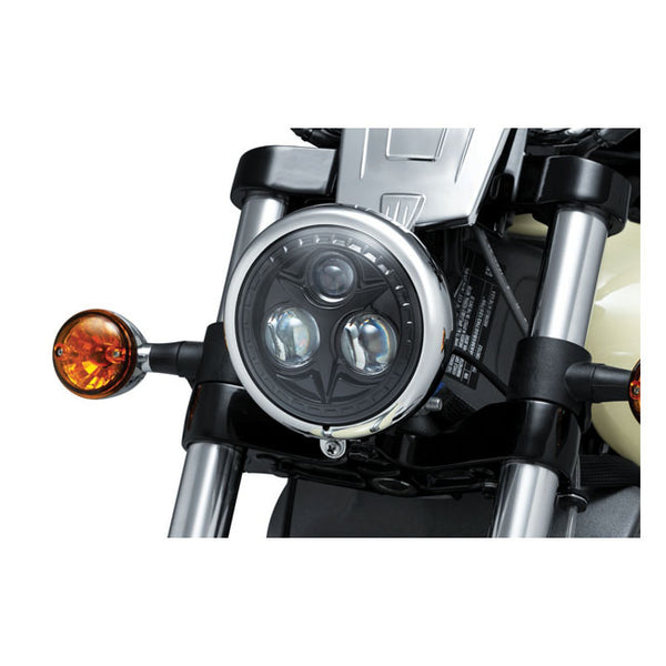 "KURYAKYN ORBIT 5-3/4"" HEADLAMP UNIT LED, BLACK"