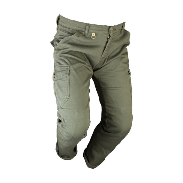 BY CITY MIXED JEANS, CARGO KEVLAR BUKSE. GRØNN.