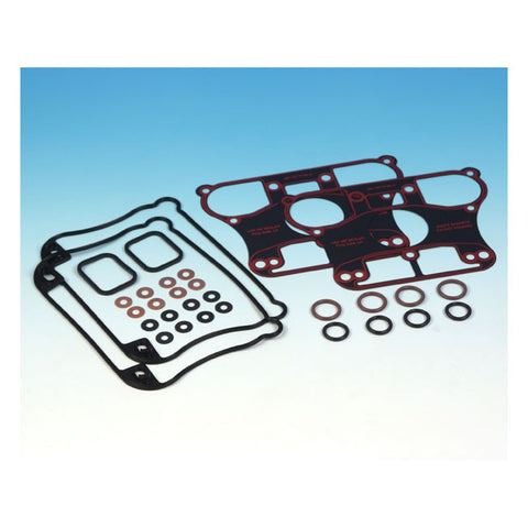 JAMES, ROCKER COVER GASKET SET. HD Sportster 04-06.