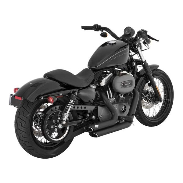 "VANCE & HINES, 2-1/2"" SHORTSHOTS STAGGERED EXH. BLACK. XL Sportster 04-20."