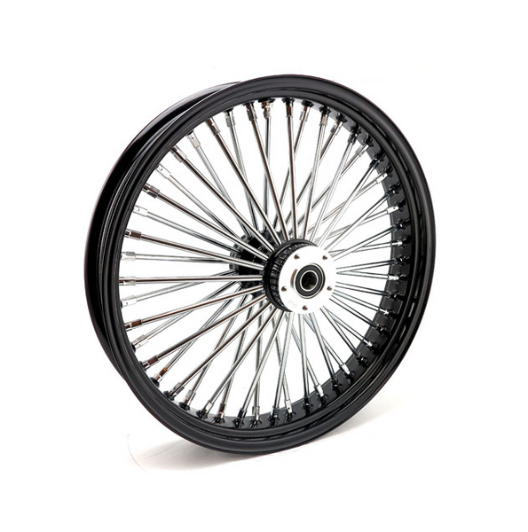MCS RADIAL 48 FAT SPOKE FRONT WHEEL 3.50 X 21. Svart eller krom.