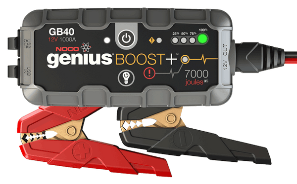 Noco Genius GB 40 Boost. Jump start til 12 V batterier.