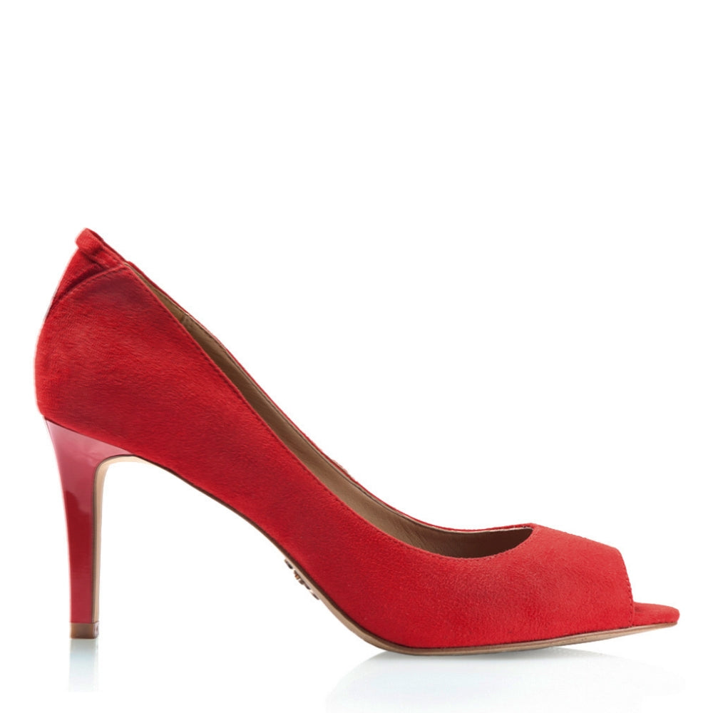 Florence Volcano red heels for women