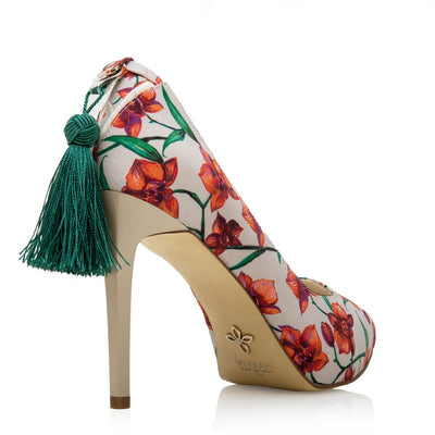 Vegan Designer High Heels with Add-on Tassel