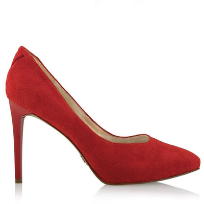 MULAN Volcano Red - Vegan Designer Luxury High Heels