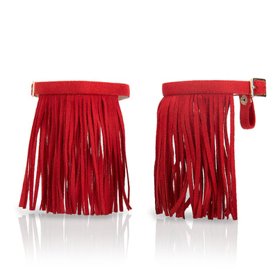 Fringe Volcano Red - Detachable Fringe Shoe Accessory