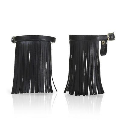 Fringe Midnight Black - Detachable Fringe Shoe Accessory
