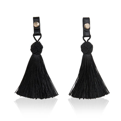 Tassel Midnight Black - Women's Tassels Shoes