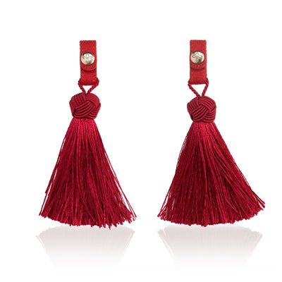Tassel Volcano Red/Deep Red - Women's Tassels Shoes