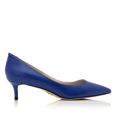 MAYA Blue Ap-peel - Luxury Vegan Kitten Heel Shoe