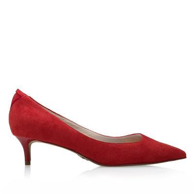 MAYA Volcano Red - Luxury Vegan Kitten Heel Shoe