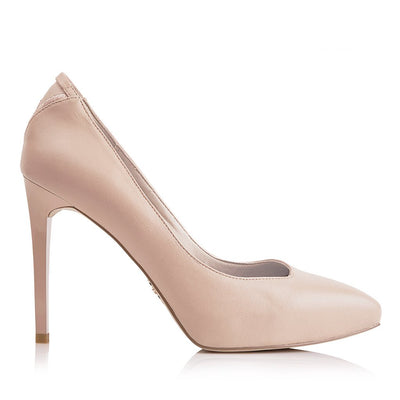 MULAN Champagne Blush - Vegan Leather Designer High Heels