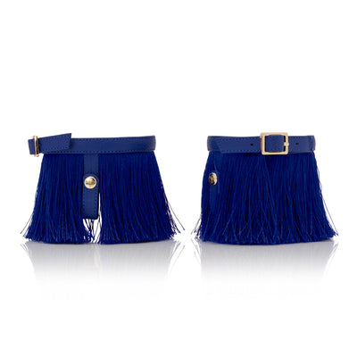 Full-on Fringe Blue Ap-peel - Detachable Fringe Shoe Accessory