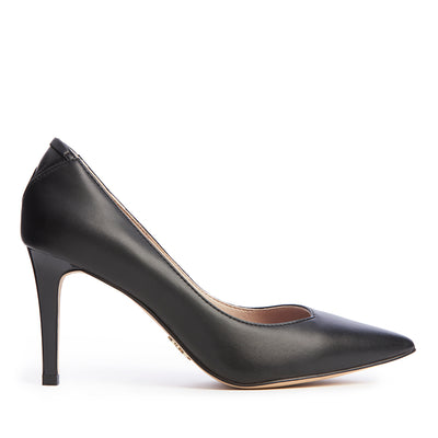 FRIDA Midnight Black - Comfortable Vegan Designer Heel Shoe