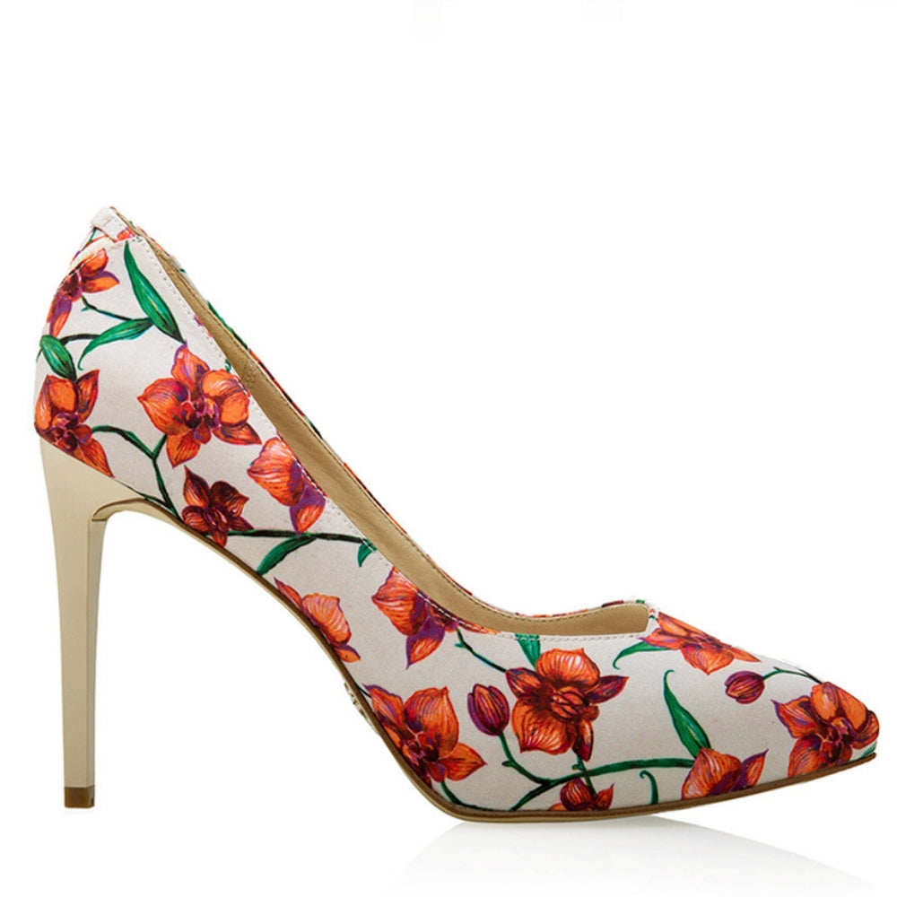 Sustainable Shoes: MULAN Coral Orchid Heels