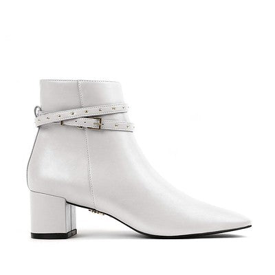 HEDY white vegan boots womens
