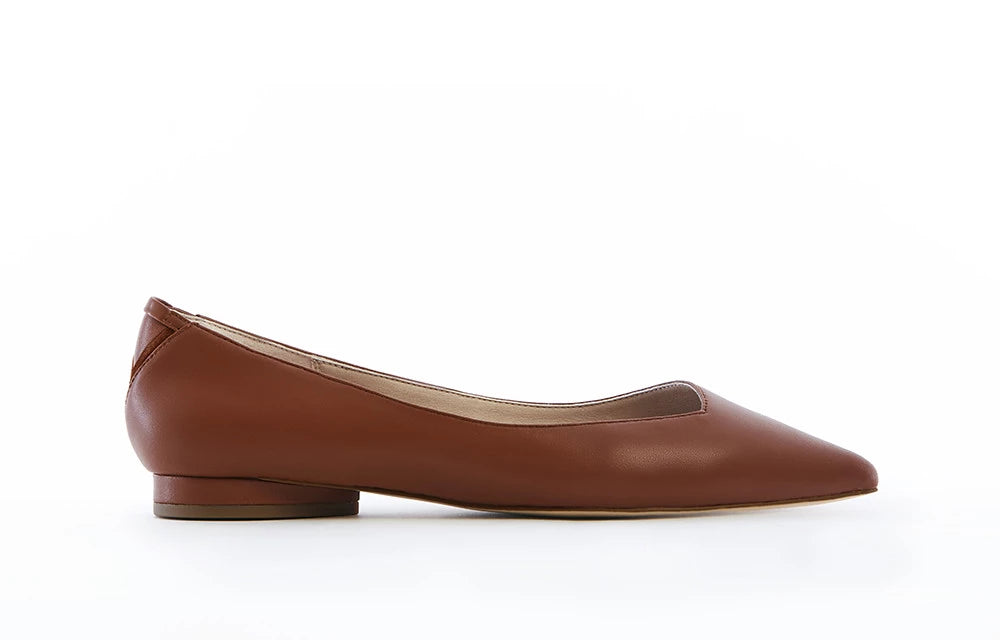 VICKY vegan comfortable flats in Cognac