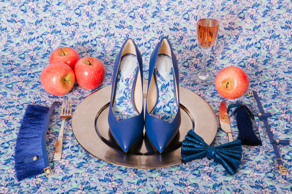 Apple Leather Heels With Accessories
