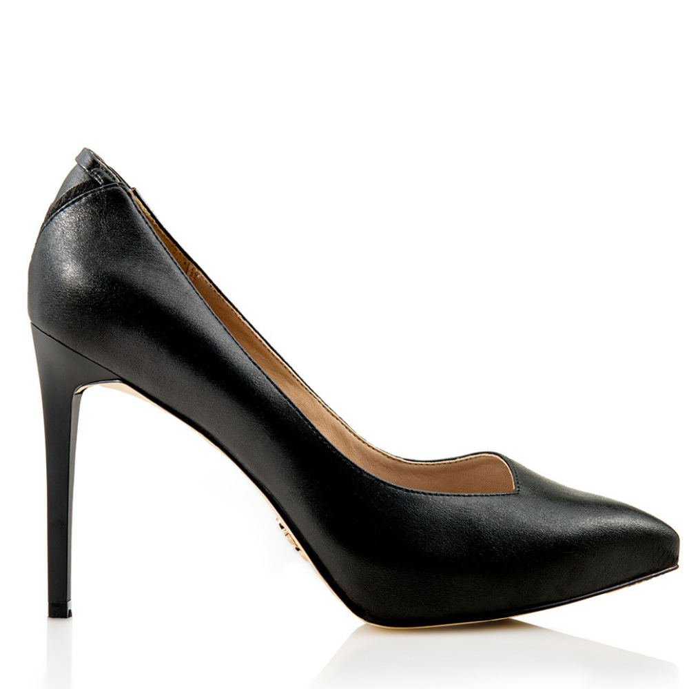 vegan black heel
