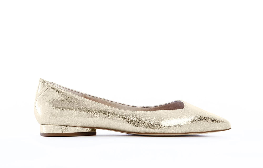 VICKY Gold Rush vegan flats